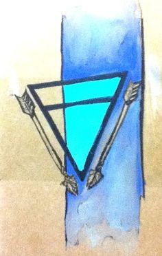 Moleskine Journal with Earth Arrow Illustration