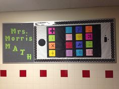 Happily Ever After blog: love this math bulletin board - maybe with problem solving strategies as the apps.