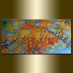 Original Textured Palette Knife Landscape Painting by willsonart, $235.00
