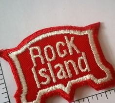 1970s Vintage Rock Island Railroad Patch train patch embroidered unique rail line NOS by TheHartyHoca on Etsy