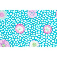 Kaffe Fassett Fabric Guinea Flower in Turquoise from Rowan fabrics for patchwork quilting and dressmaking from Eclectic Maker [GP59 Turquoi...