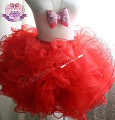 Red Cotton Candy Tutu