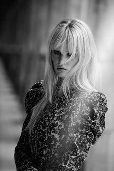 Novel Romance: Lara Stone + Freja Beha Erichsen by Peter Lindbergh for W Magazine