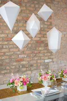 This Geometric Wedding Is The Only Math We've Ever Loved #refinery29
