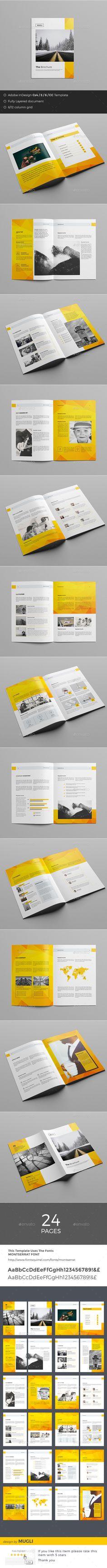 Brochure Template InDesign INDD, AI Illustrator. Download here: https://graphicriver.net/item/brochure/17475059?ref=ksioks
