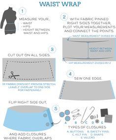 making a waist wrap