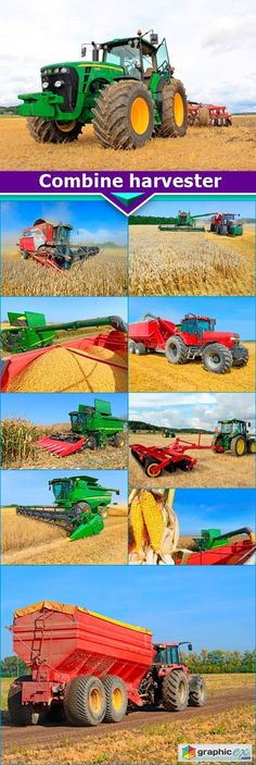 Combine harvester 10x JPEG  stock images
