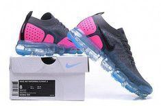 size 40 2c191 277d9 Buy Unisex Nike Air Vapormax Flyknit 2 New Style 2018 Dark Grey Pink Blue  Shoe