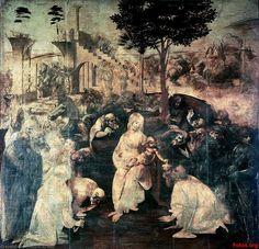 Leonardo Da Vinci-L'adorazione dei Mages