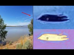 """UFO photographed over Boysen Reservoir outside Shoshone Wyoming, by a retired USAF employee who said: On July 1, 2017 I was on my way home when I stopped at Boysen Reservoir. I snapped a couple of photos of the lake, then downloaded them into the computer about 15 days later. I enlarged it and that's when I saw the UFO""""...."""