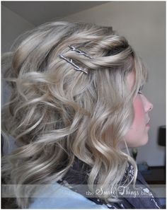 The Small Things Blog: The Double Side Twist with decorative twig bobby pins