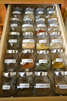 An Oasis in the Desert: Kitchen Organizing -- More Please! Spice Rack Organization, Kitchen Organization Pantry, Spice Storage, Home Office Organization, Baking Center, Small Pantry, Starter Home, Decorating On A Budget, Cozy House