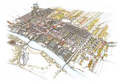 Uniejów, Poland Master Plan Illustration on Behance Master Plan, Poland, City Photo, Behance, How To Plan, Illustration, Art, Art Background, Illustrations