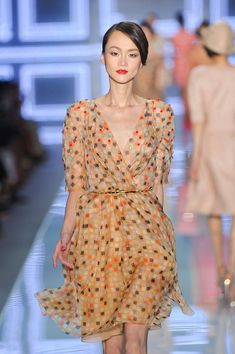 Christian Dior at Paris Fashion Week Spring 2012 - StyleBistro Paris Fashion, Runway Fashion, Christian Dior, Wrap Dress, Fancy, Spring, Style Ideas, Pretty, Pictures