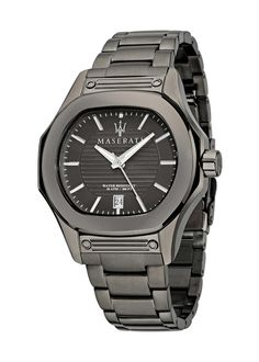 pánske luxusné hodinky Maserati - oceľové (farba: Gunmetal) - GUN.789.314 Maserati, Gents Watches, Perfect Christmas Gifts, Casio Watch, Omega Watch, Fossil, Guns, Quartz, Leather