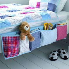 Bedside Pocket Organiser in Blue - Casafina