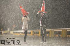 [오늘 잠은 다 잤네] 달포♡인하의 빗 속 고깔 데이트! : 피노키오 : SBS