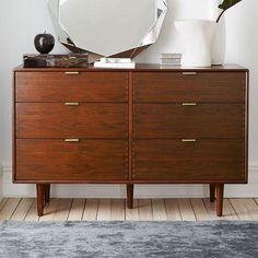 Miles and May 6-Drawer Brown Dresser