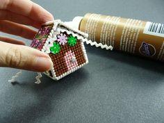 Plastic Canvas Gingerbread House Ornament
