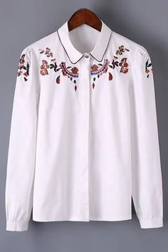 Long Sleeve Embroidered Shirt
