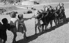"""Post-war Greece: Children playing """"tug-of-war"""" / Voula Papaioannou Life Pictures, Old Pictures, Old Time Photos, Greece Photography, Greek History, Yesterday And Today, Big Love, Back In The Day, Vintage Children"""