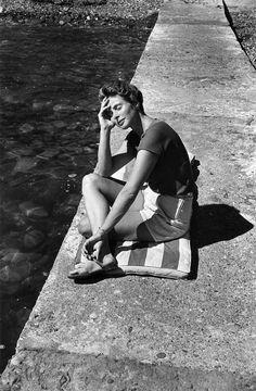 Ingrid Bergman in the sun |