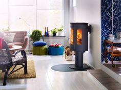 Erhöhter Kamin von Contura für dein Wohnzimmer * Interior ideas * Wohnideen