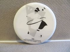 This is an advertising round pin made for Bloomingdale's Department. The design is in black and white. Bergen County, Department Store, Stores, Decorative Plates, Advertising, Vintage, Ebay, Design, Home Decor