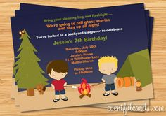 Camping Birthday Party Invitation by eventfulcards on Etsy, $15.99