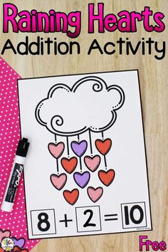 This book-inspired Raining Hearts Addition Activity is a fun way for your children to practice adding to 10.