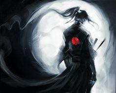 lonely -wolf- Samurai .Updated.T-shirt design . by *sakimichan on deviantART