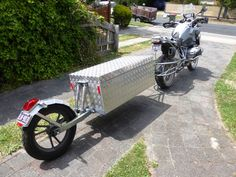 BrianJLacey uploaded this image to 'Trailer build'. See the album on Photobucket. Pull Behind Motorcycle Trailer, Homemade Trailer, Enfield Himalayan, Wooden Bicycle, Trailer Build, Engine Working, Bicycle Wheel, Scrambler Motorcycle, Dual Sport