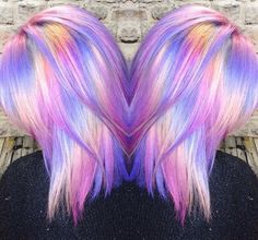 40 Iridescent Holographic Hair Coloring Ideas to Make Your Hair Resemble a Pastel Colored Rainbow is part of Hair color crazy - Try a holographic hair color and give tour persona a complete change Pelo Multicolor, Coiffure Hair, Twisted Hair, Bright Hair Colors, Colorful Hair, Hair Colours, Rainbow Hair Colors, Pastel Rainbow Hair, Neon Hair