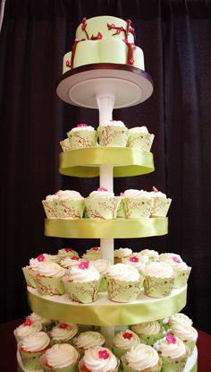 Cupcake Overload~cupcake-wrappers-flourgirls-wedding tower  bellacupcakecouture