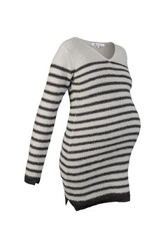 621eb83a QUEEN MUM Striped Wool-Mix Maternity Jumper Dress Maternity Jumpers, Maternity  Wear, Maternity