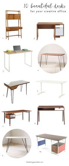 10 Beautiful Desks f