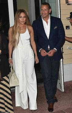 Fine dining: Jennifer Lopez and her beau Alex Rodriguez continued their birthday celebrati...