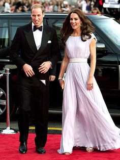 """A GLAM SHOWING  After """"horsing"""" around all day, the Duke and Duchess of Cambridge stun on the red carpet at the BAFTA Brits to Watch event, where the couple sat with Hollywood royalty – Nicole Kidman, Barbra Streisand and James Brolin."""