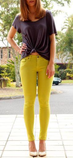 Lime Skinny Jeans