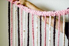 Finger Knitting DIY