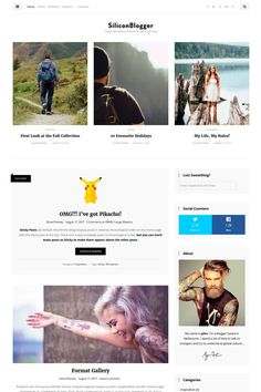 SiliconBlogger - Clean personal blog focused on readability Responsive WordPress Theme Big Screenshot