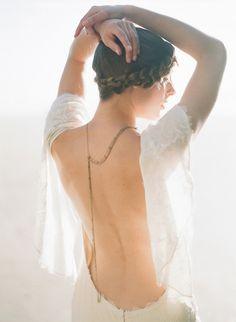 Backless and a crown braid: http://www.stylemepretty.com/oregon-weddings/2015/05/05/oregon-coast-seaglass-wedding-inspiration/ | Photography: Lexia Frank - http://www.lexiafrank.com/