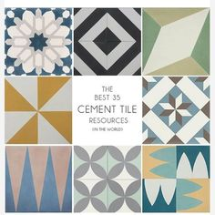 All you tile lovers do yourselves a favor and head over to @em_henderson blog for the most thorough cement tile resource (in the world). #cementtile #emilyhenderson #emilyhendersondesign #interiordesign #stripedesignservices #tile #tileaddiction by stripedesignservices