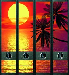 Lever Arch File Label Tropical Sunset AJ433