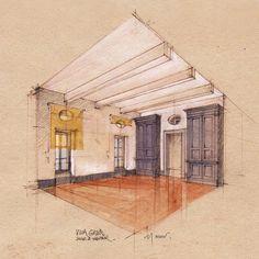 Villa Girard, Nicolas Duru.  Love architecture sketches