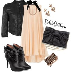 """""""Feminine Edge"""" by steffiestaffie on Polyvore Love this dress and purse!"""