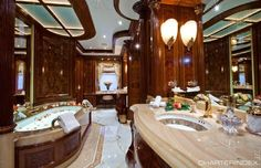 Master suite bathroom - MARTHA ANN Charter Yacht