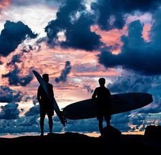 Surfing sunrise -- s