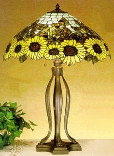 Wild Sunflowers Table Lamp