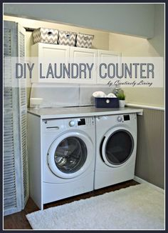 Consider This Idea But Using Hinges So It Folds Up When Not In Use Since Washer Is Top Loading